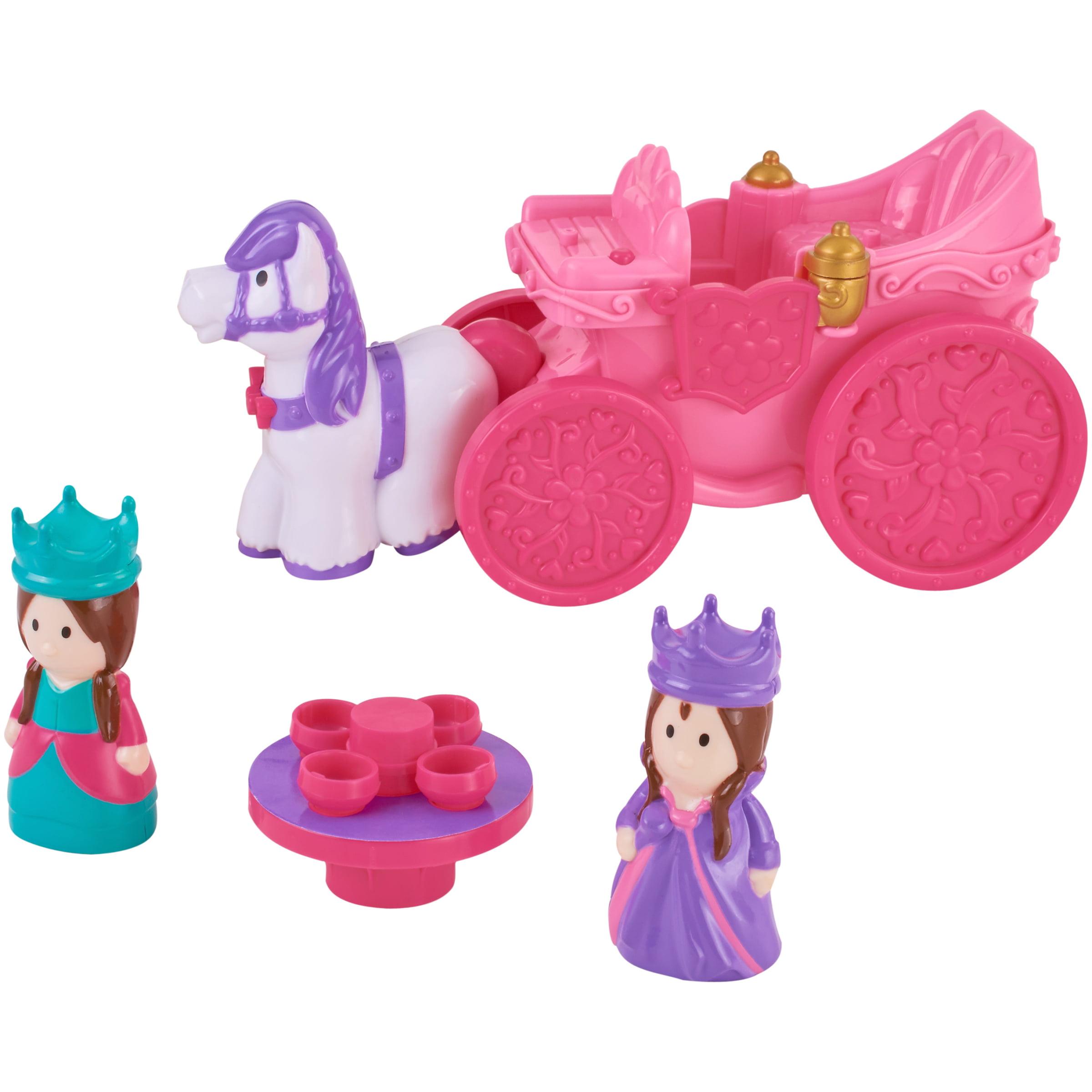 Kid Connection 4-Piece Light & Sound Princess Carriage Play Set