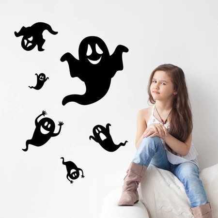 DIY 3D Ghost Living Room Bedroom Removable Wall Stickers Decals - Halloween 3d Multiplayer