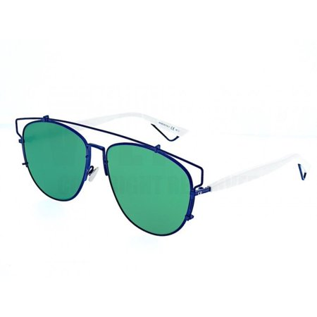 DIOR TECHNOLOGIC TVCAF WHITE /BLUE LIGHT GREEN MIRROR TVC AF SUNGLASSES