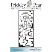 Prickley Pear Cling Stamps 4.25 Inch X 3 Inch-Haunted House In Gra