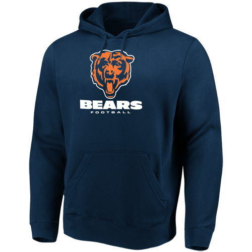 Men's Majestic Navy Chicago Bears Our Team Pullover Hoodie