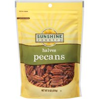 Sunshine Country Pecan Halves, All Natural, 8 oz Bag