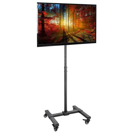 Vivo Mobile Tv Floor Stand Height Adjustable Mount W  Wheels For Screens 13  To 42   Stand Tv07w
