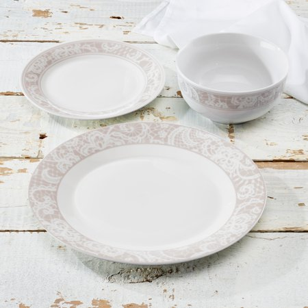 Pretty Lace Beige 12 Piece (Pretty Tableware)