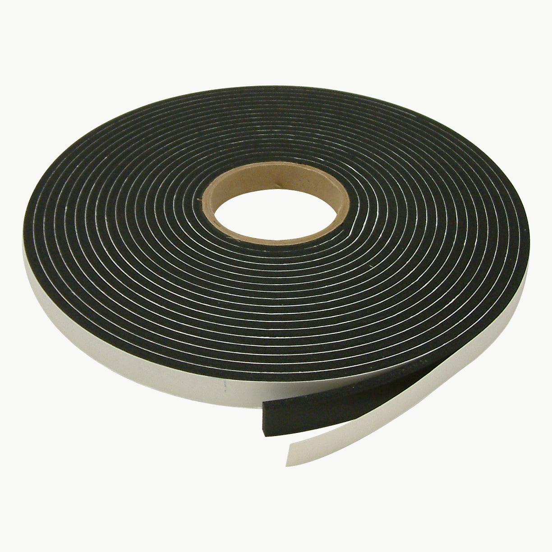 JVCC SCF-02 Single Coated PVC Foam Tape: 1/4 in. thick x 3/4 in. x 35 ft. (Black)