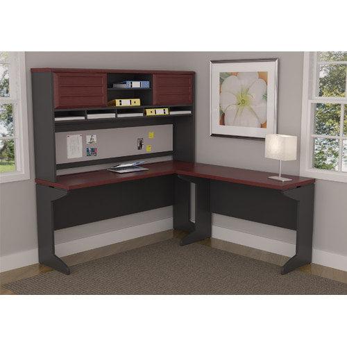 Altra Furniture Pursuit L-Shape Desk Shell with Hutch