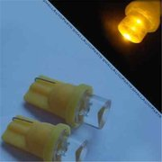 SmallAutoParts Yellow T10 Led Bulbs - Set Of 2