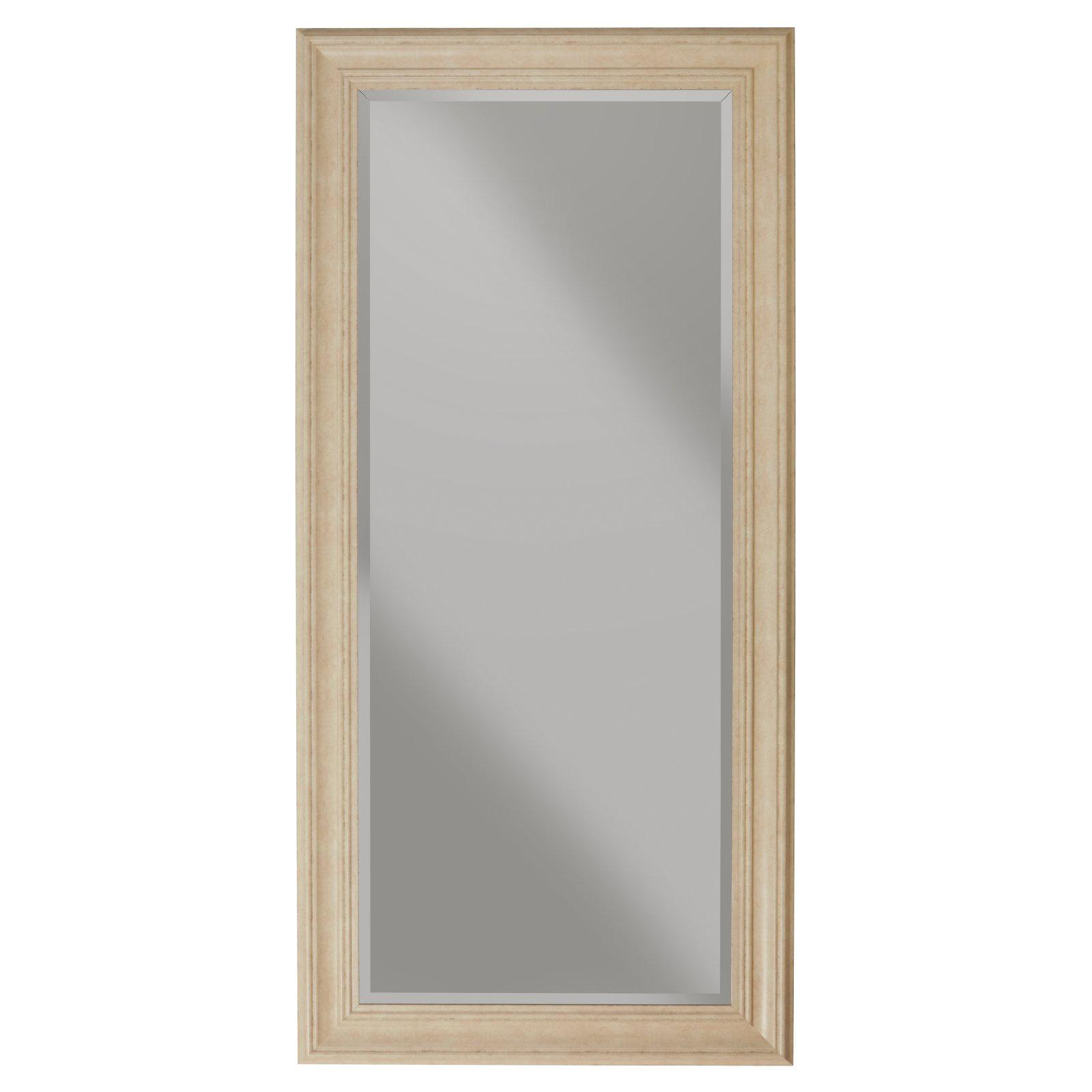 Elegant Antique White Full Length Leaner Mirror by Martin Svensson Home
