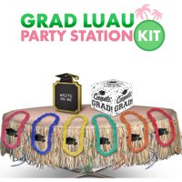 Party City Graduation Luau Party Kit, Includes Leis, Table Skirt, and a Garland
