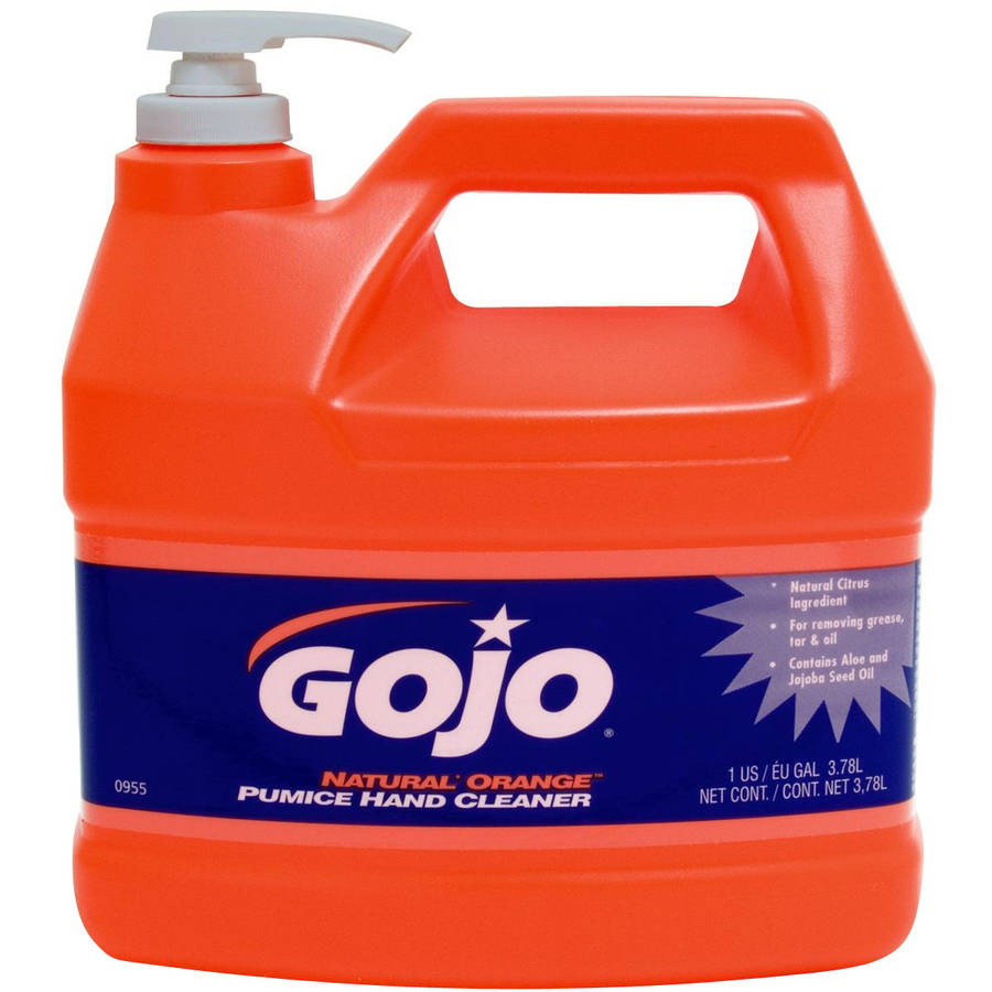 Gojo Natural Orange Pumice Hand Cleaner, 128 fl oz