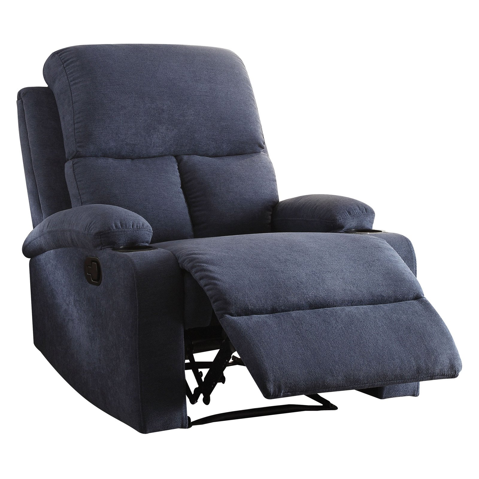 ACME Rosia Velvet Recliner with Cup Holder, Multiple Colors