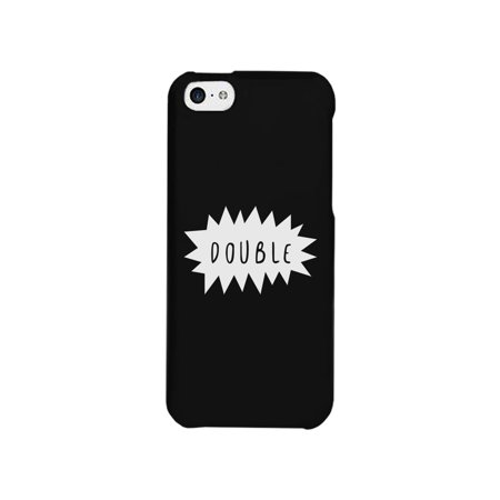Double Trouble-Left Cute Best Friend Matching Black iPhone 5C