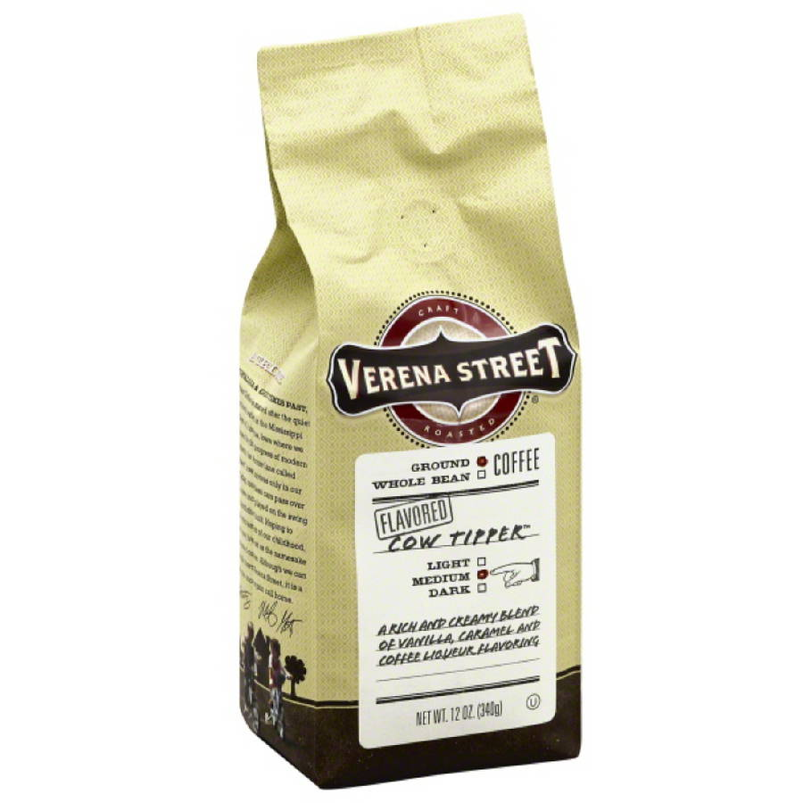 Verena Street Cow Tipper Medium Ground Coffee, 12 oz, (Pack of 6)