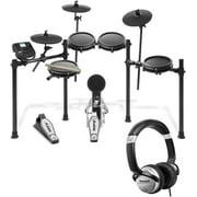 Alesis Nitro Mesh 8 Piece Electronic Drum Kit with Sticks + Headphone +10' Cable