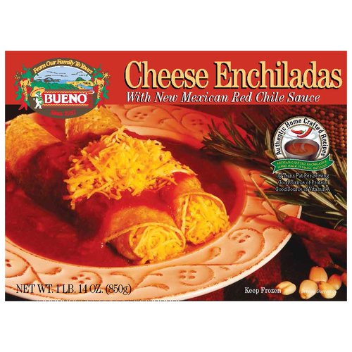Bueno Cheese Enchiladas with New Mexican Red Chile Sauce, 30 oz