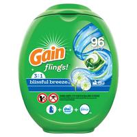 Gain Flings Blissful Breeze, Laundry Detergent Pacs, 96 ct.