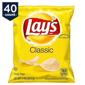40-Pack Lay's Classic Potato Chips, 1 oz