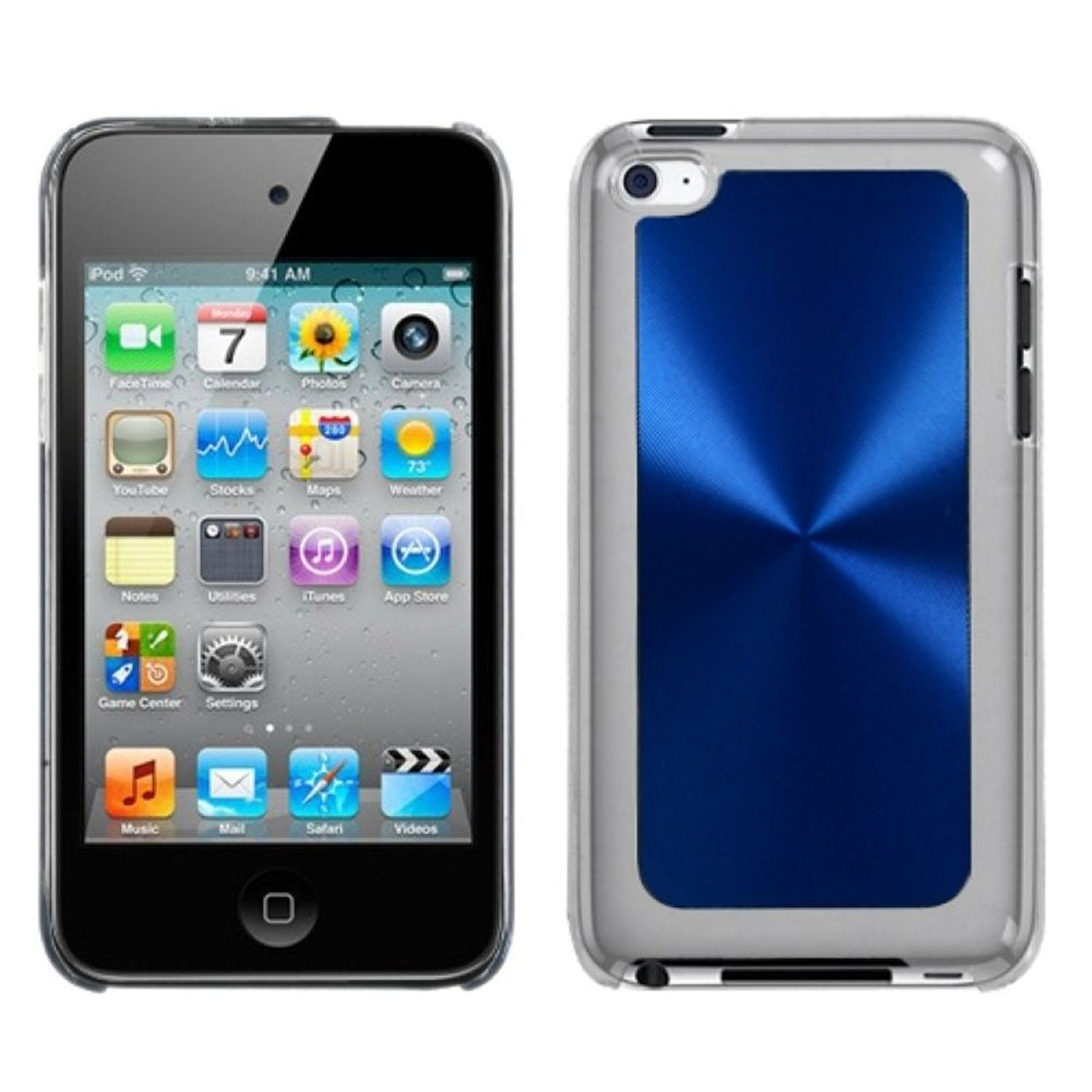 Insten Blue Cosmo Back Case for APPLE: iPod touch (4th Gen)