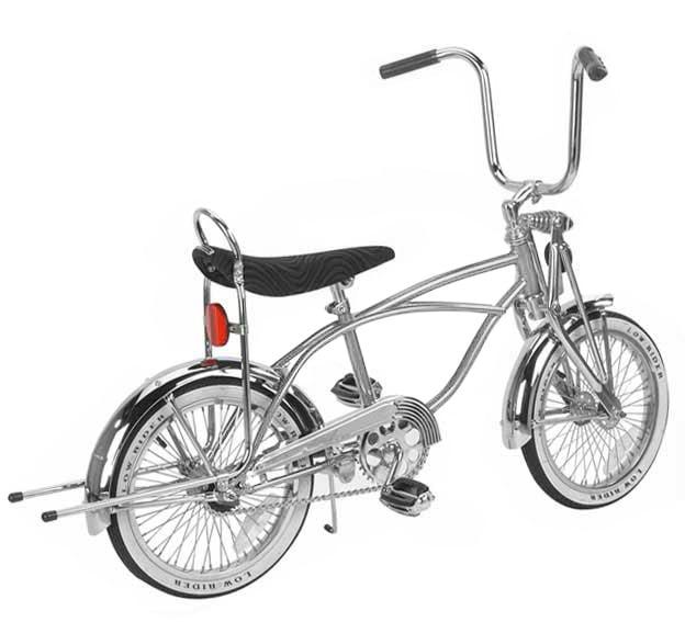 "16/"" Bike Banana Seat With white Grips Sissy Bar  Lowrider white Krate"