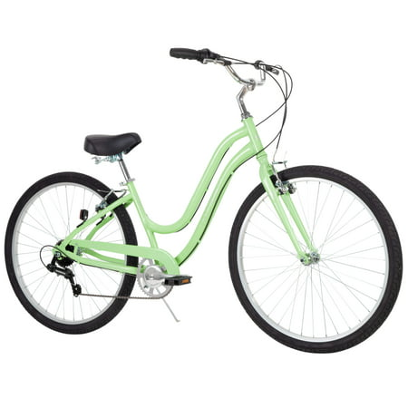 "Huffy 27.5"" Parkside Womens 7-Speed Comfort Bike with Perfect Fit Frame, Mint"