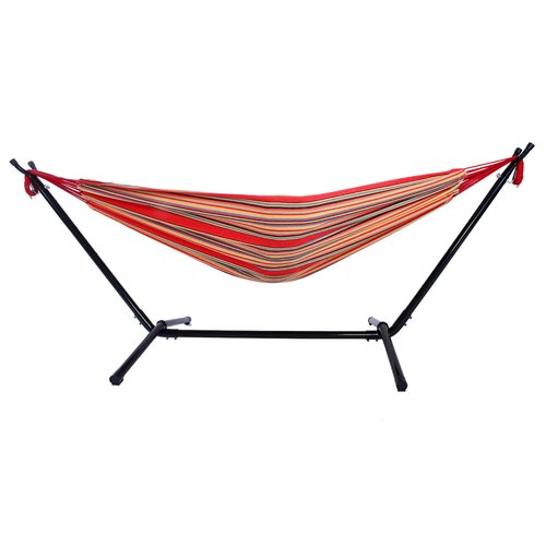 Highland Dunes Harrietta Portable Polyester Camping Hammock with Stand