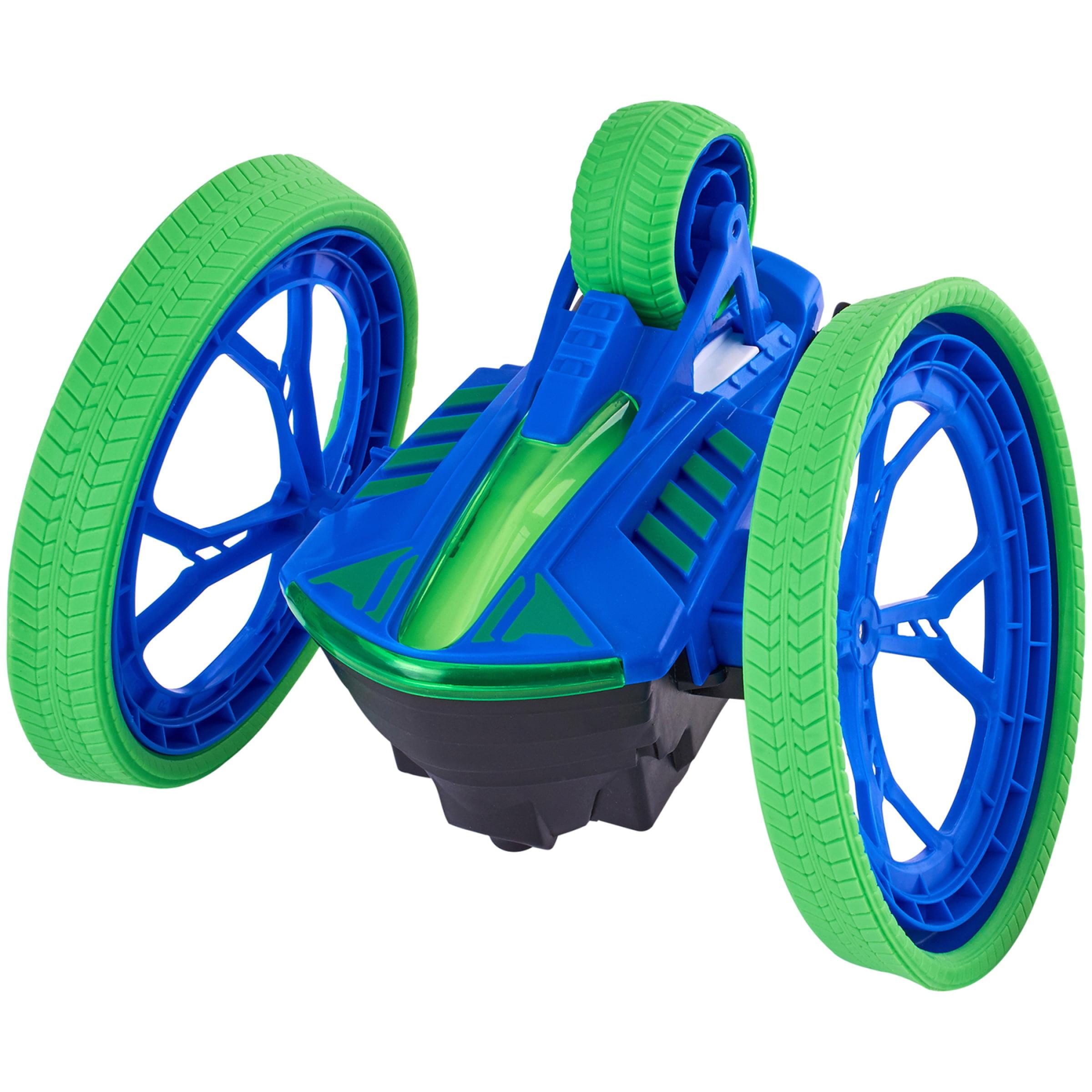 Adventure Force Max Rumbler Radio Controlled Stunt Vehicle, Blue & Green