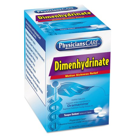 Sickness Aid (Dimenhydrinate (Motion Sickness) Tablets, 2/Pack, 50 Pack/Box )