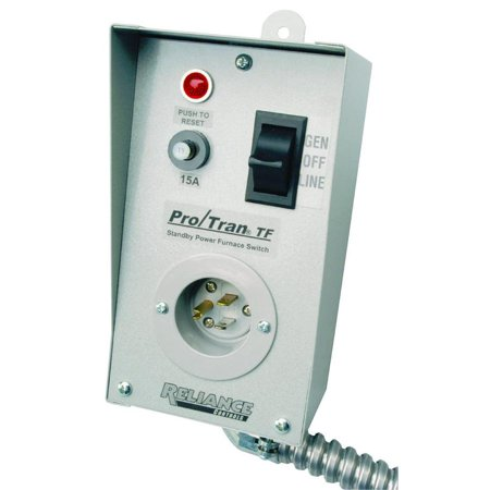 Reliance Controls TF151W Generator Transfer Switches, 1-Circuit, 15
