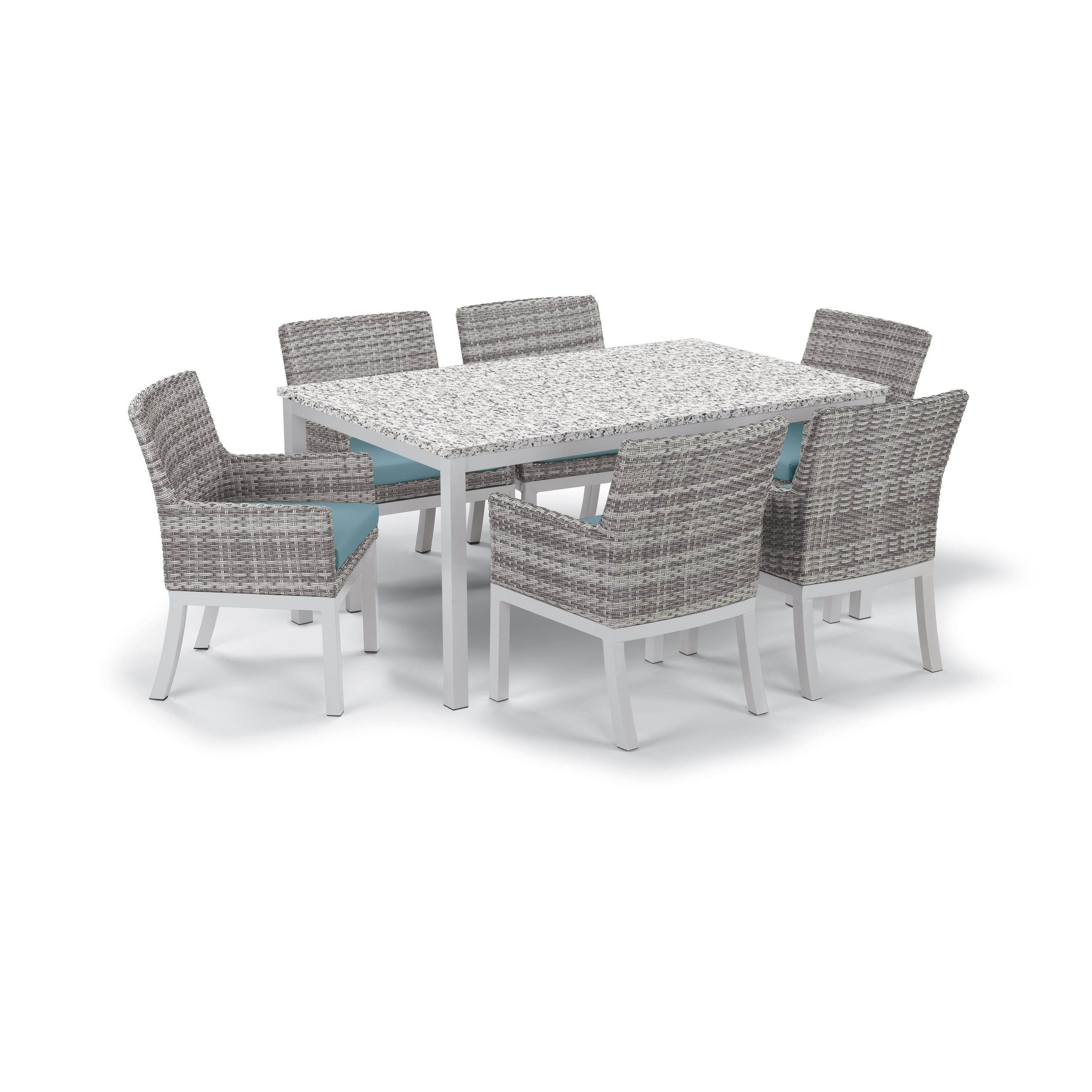 Oxford Garden  Travira 7-Piece Dining Set with 63-in x 40...