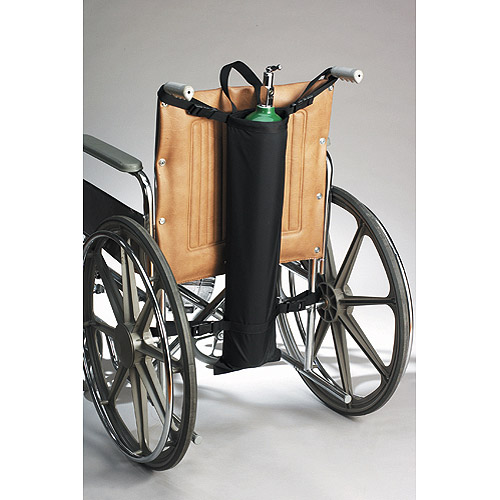 Oxygen Cylinder Holder for All Push-Handle Wheelchairs