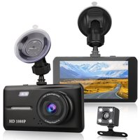 Dual Dash Cam Front and Rear, EEEkit 1080p HD Car DVR Dashboard Camera Recorder with Night Vision, 4.5 inch Screen, 170 Super Wide Angle, G Sensor, Parking Monitor, Motion Detection