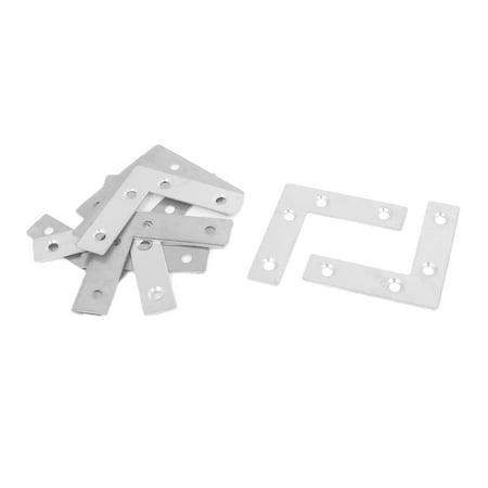 (Unique Bargains 10pcs Flat L Shaped Angle Corner Brace Plate Repair Bracket 60mmx60mmx15mm)