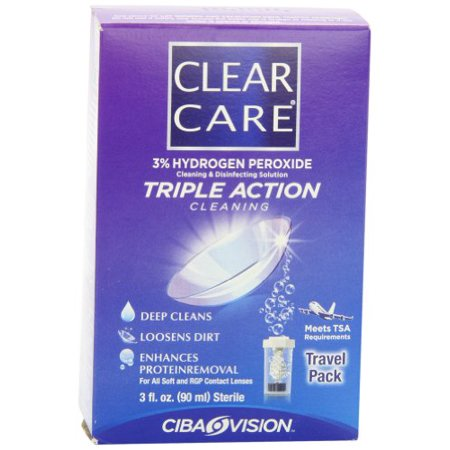 3 Pack Clear Care Cleaning & Disinfection Solution Travel Pack 3 fl oz (90 mL)