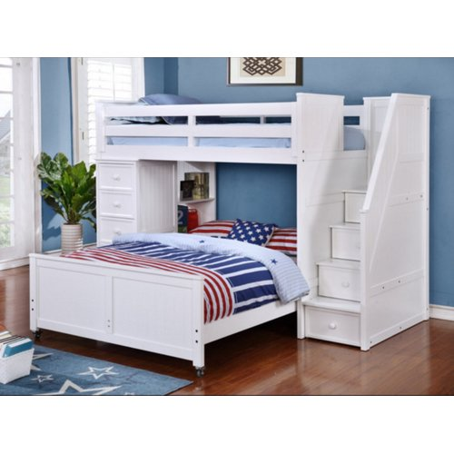 Harriet Bee Danelle Twin Over Full L Shaped Bunk Bed Walmart Com