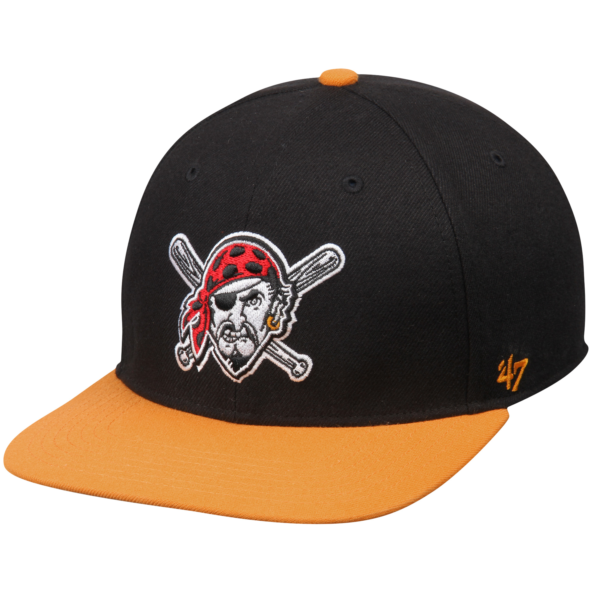 30ea50aea6008 Pittsburgh Pirates  47 Sure Shot Two-Tone Snapback Adjustable Hat - Black Gold  - OSFA - Walmart.com