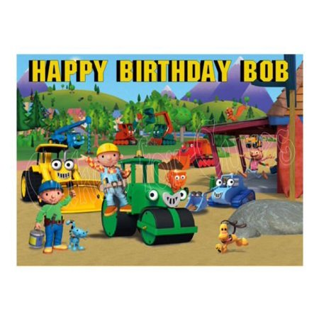 1 4 Sheet Bob The Builder Edible Frosting Cake Topper