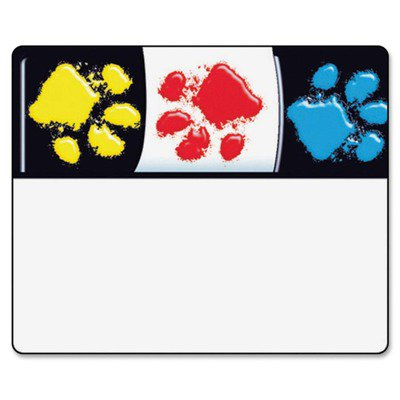 Trend Bright and Welcoming Paw Print Name Tags TEPT68081
