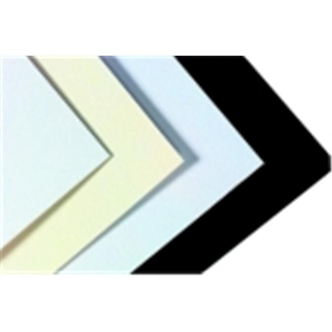 Crescent 20 x 32 inch Acid-Free Medium-Weight Smooth Surfaced Mat Board, White And Cream Smooth, Pack - 10