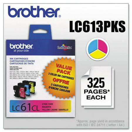 Brother LC613PKS Innobella Ink Cyan Magenta Yellow 3 PK
