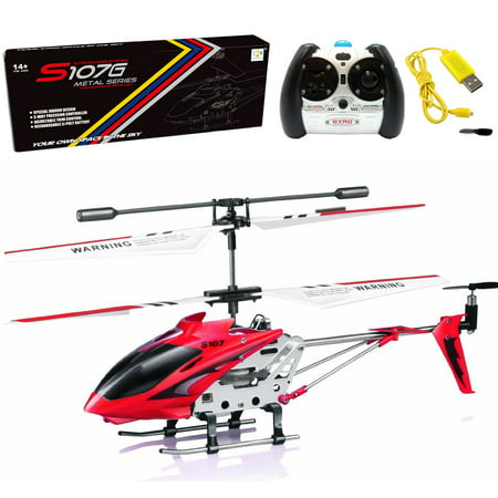 Controlled Mini Helicopter (Cheerwing S107 S107G 3.5CH Alloy Mini Remote Control RC Helicopter Gyro Blue)