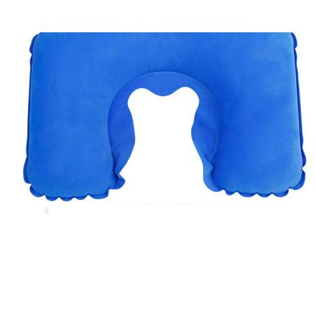 Air Blow Up Pillow Outdoor Camping Inflatable U Shape Pillow Cushion Soft Neck Pillow Eye Mask Earplugs - image 7 de 8