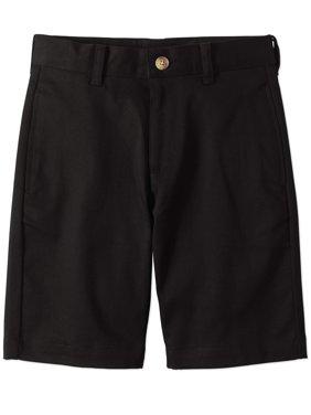 Wonder Nation Boys School Uniform Super Soft Flat Front Shorts (Little Boys & Big Boys)