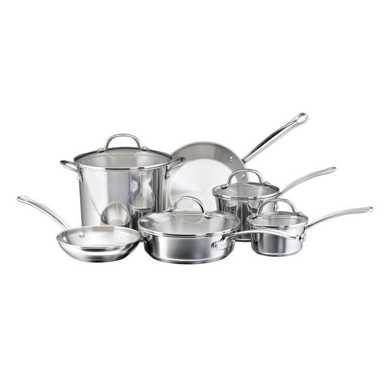 Farberware Millennium Stainless Steel 10-Piece Cookware Set by Meyer Corporation