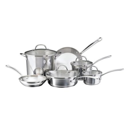 Farberware Stainless Steel Classic Cookware - Farberware Millennium Stainless Steel Cookware 10-Piece Set, Stainless Steel - 75653