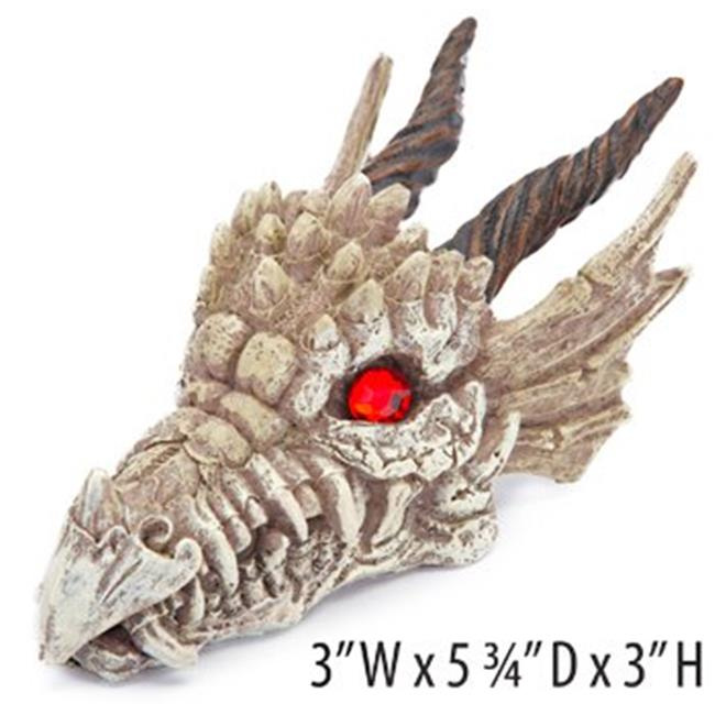 Dragon Skull-Gazer Aquarium Decoration Ornament 3 x 5.75 x 3 in.