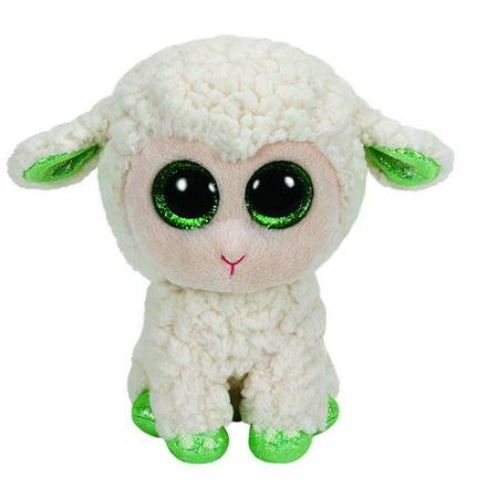 Ty Beanie Boo Lala White Lamb Medium Plush