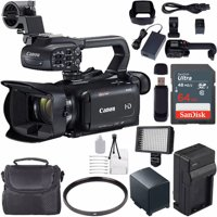 Canon XA15 Compact Full HD Camcorder with SDI, HDMI, and Composite Output with 64GB Memory Card | BP-820 Replacement Lithium Ion Battery Bundle
