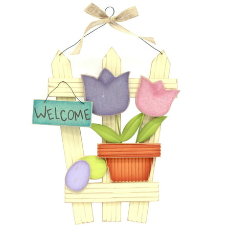 Easter Vintage Fence Welcome](Easter Baskets For Sale)