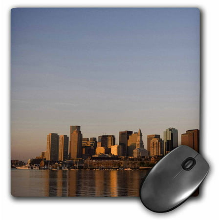 3dRose Boston skyline from East Boston, Massachusetts - US22 GPR0011 - Greg Probst, Mouse Pad, 8 by 8 inches