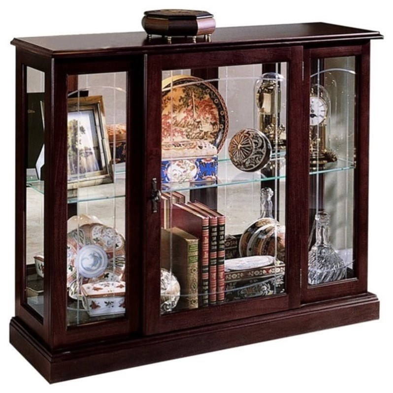 Pulaski Curios Display Cabinet in Ridgewood Cherry